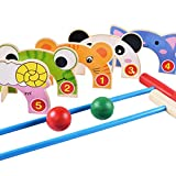 Joyibay Set De Juguetes Educativos para Niños Incluyendo Bolas De La Puerta Croquet Set Juguetes Interactivos