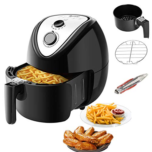 Best Deals! 5.6Qt Air Fryer Oven, Oilless Hot Air Fryer Oven Cooker with Detachable Basket, Timer, T...