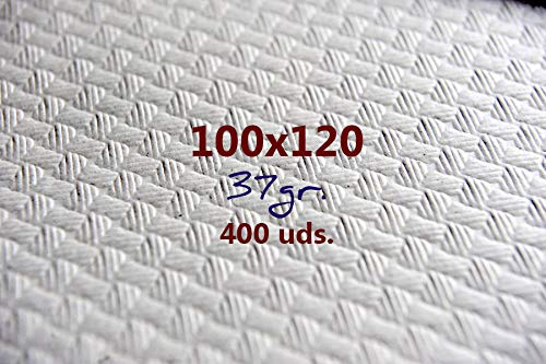 Un Uso Mantel Papel Blanco 100x120 37gr Caja DE 400UD.