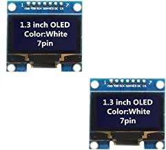 WINGONEER 2Pcs 1.3 Inch SPI 128x64 SSH1106 OLED LCD Display LCD Module for Arduino AVR PIC STM32 - White Font