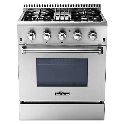 Thor Kitchen 30' Dual Fuel Range, Freestanding, 4.2 cu. ft. Oven, Stainless Steel (HRD3088U)