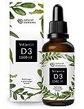 Vitamin D3 - Mehrfacher Sieger 2019/2020* - Laborgeprüfte 1000 I.E. pro Tropfen - 50ml (1750 Tropfen) - In MCT-Öl aus Kokos - Hochdosiert, flüssig und hergestellt in Deutschland