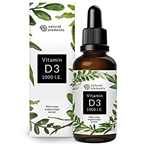 Vitamin D flüssig / Tropfen natural elements Vitamin D3