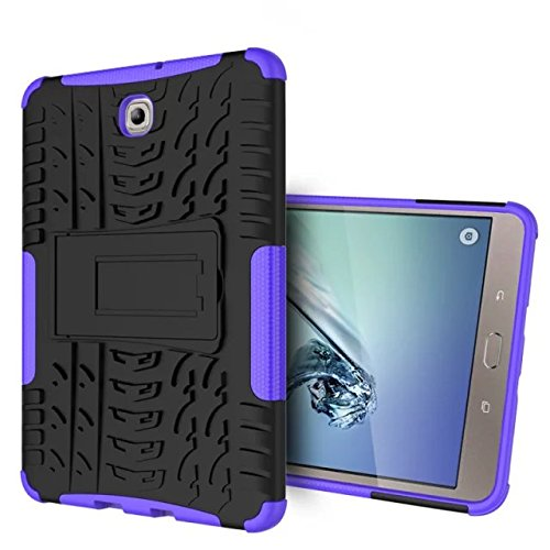 XITODA Samsung Tab S2 8'' Protección,Funda para Galaxy Tab S2 8.0, Armour Hybrid Dual Layer Armor Duro Cases con Stand Funda para Samsung Galaxy Tab S2 8.0 SM-T710 T715 T713 T719 Tablet - Púrpura