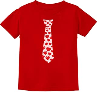 Red Hearts Tie Love Cute Toddler/Infant Kids T-Shirt