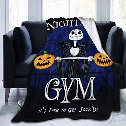 Halloween Town Gymair - Manta acondicionadora súper Suave, Manta de Felpa, Manta cálida, usada para sofá, Silla de Viaje, Manta, Manta Liviana 60 'x 50'