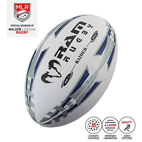 Ram Rugby - Offizieller MLR-Wettkampfball - Absolutes Top Rugbyball - Große 5 (Blau)