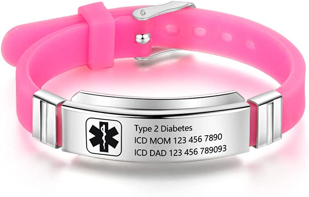 Personalized Bracelet Bombing new work Max 70% OFF Silicone Medical Bracelets Adjustable Spor