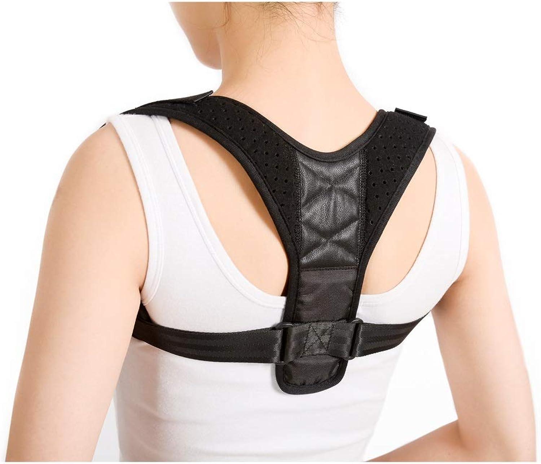 LBYMYB Strengthen Back Correction Belt with Hunchback Correction with Breathable Posture with Clavicle Adjustable Posture Black Back Support (Size   S)