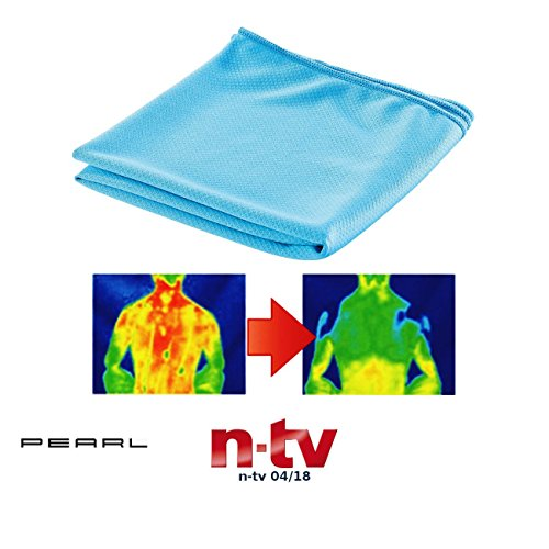 PEARL Kühltücher: Aktiv kühlendes Multifunktionstuch, 110 x 55 cm (Kühlendes Handtuch)