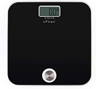 Digital Bathroom Scale for People Health 400 Pounds Body Scale with LCD Screen Battery-Free Weight Scale (Black)