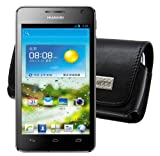 MTT Quertasche mit Gürtelclip für das Huawei Ascend G525 Dual-SIM in schwarz