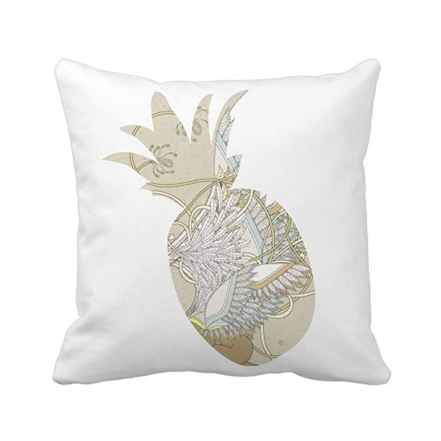 ネブカッター土曜日花の翼日本浮世絵の葉 パイナップル枕カバー正方形を投げる 50cm x 50cm