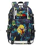 ZZGOO-LL Dragon Ball Super Son Goku/Vegeta IV/Torankusu Mochila con para Mujer, Mochila de Viaje Suave, Mochila para Escuela, Notebook, Mochilas para niñas con USB-C