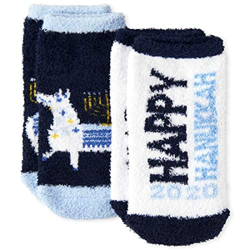 The Children's Place Baby Boys' Hanukkah Socks, Pack of Two, MULTI CLR, L 3-6
