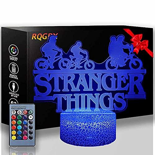 3D noche luz extraño cosas 16 colores cambiantes lámpara de escritorio para niños Navidad cumpleaños regalos decoración del hogar