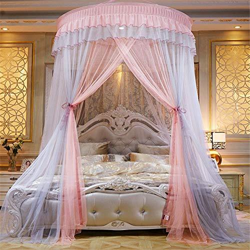 Fancylande Baldachin Betthimmel Moskitonetz Himmelbett Vorhänge Für Mädchen Bett - Colorblocking...