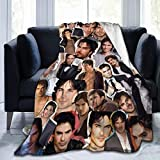 YOU and me 2020 Ian-Somerhalder Fleece Blanket Ultra-Soft Micro for Couch Or Bed Warm Throw Blanket (60' x50) Medium for Teens