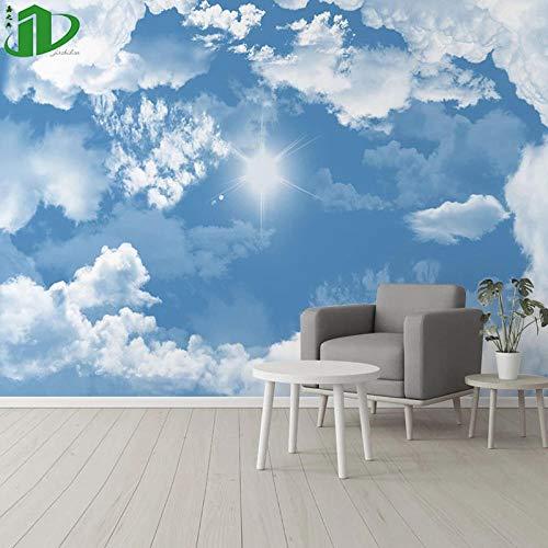 Tapeten Neue Chinesische Art Weiße Wolkentapeten-Dekoration, Die Moderne Unbedeutende Fernsehhintergrundwandhimmel-Tapetenschlafzimmerwandbedeckung 8D Art Und Weise Malt-400Cmx280Cm