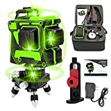 Iriisy Livella Laser Autolivellante 360 12 Linee 3x360° a Croce Orizzontale e Verticale Generatori di Linea Laser con 2 Batterie