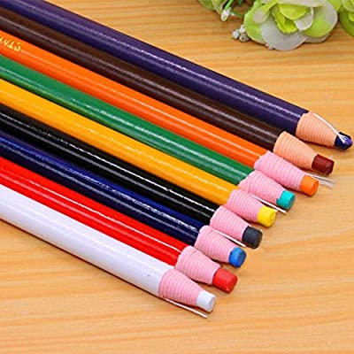 Peel-off China Markers Grease Pencil Crayons 9 Pcs Asssorted Colors Crayon Sticks, Hand Painting Pen, Crayon Pencil, Paper Wrapped, No Sharpener Needed, Safe & Non-toxic, Great for Kids, Children