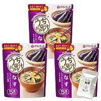 アマノフーズ フリーズドライ 味噌汁 なす 30食 うちの おみそ汁 小袋ねぎ1袋 セット