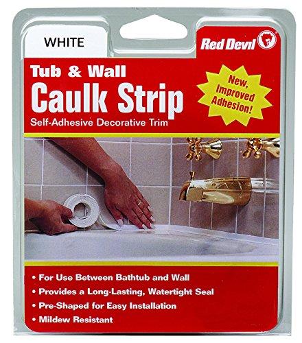 Red Devil 0150 (Medium) Tub & Wall Caulk Strip, 7/8