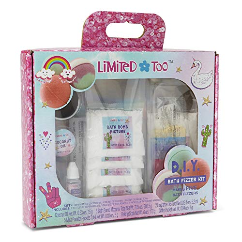 Charming Charlie DIY Scented Bath Bomb Fizzies Kit - Makes 5 Fizzers, Crafting Set - 2 Scents, Pack of 16