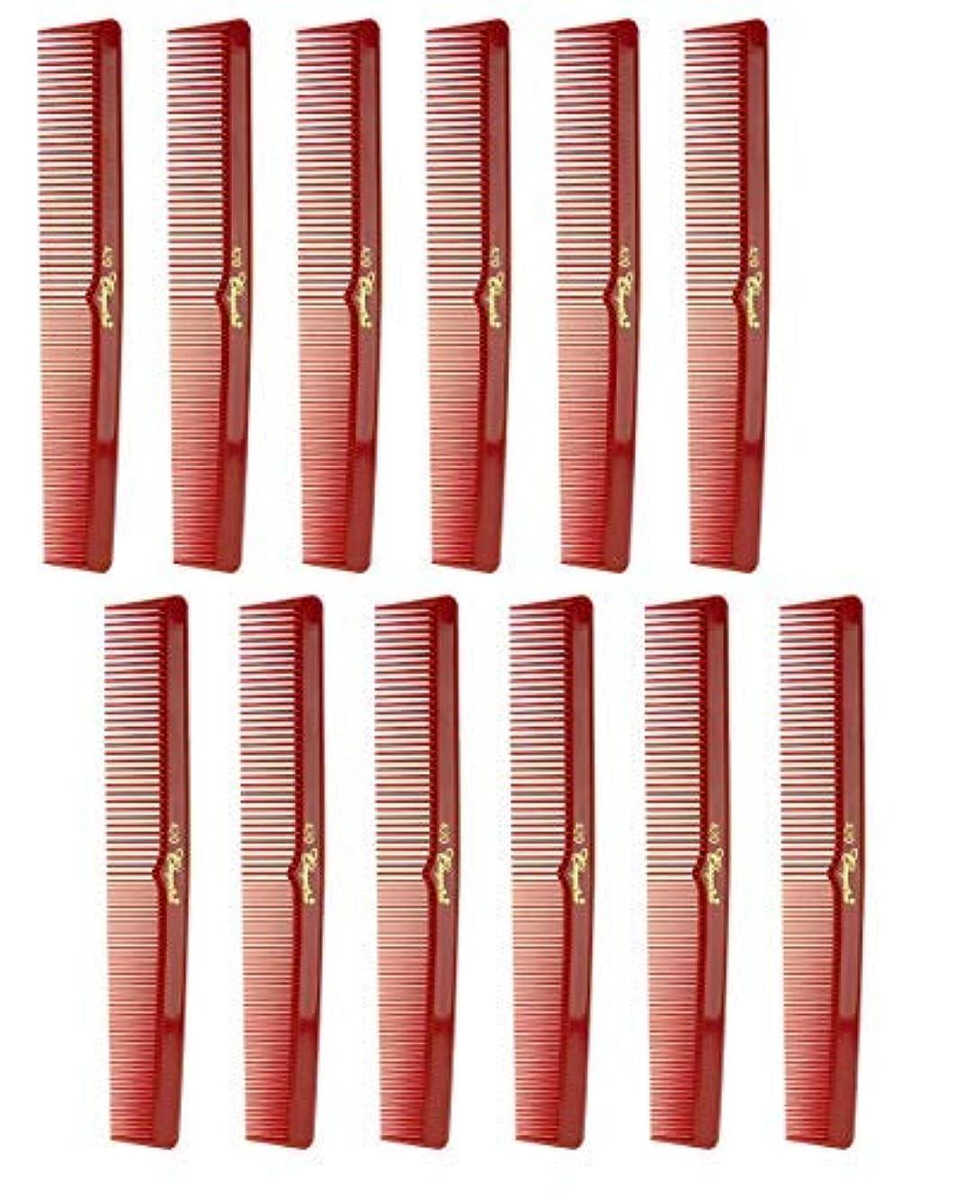 グラム小屋とげ7 Inch Hair Cutting Comb. Barber's & Hairstylist Combs. Red. 1 DZ. [並行輸入品]