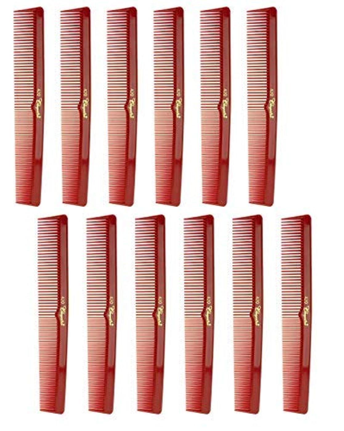 私たち罪アプライアンス7 Inch Hair Cutting Comb. Barber's & Hairstylist Combs. Red. 1 DZ. [並行輸入品]