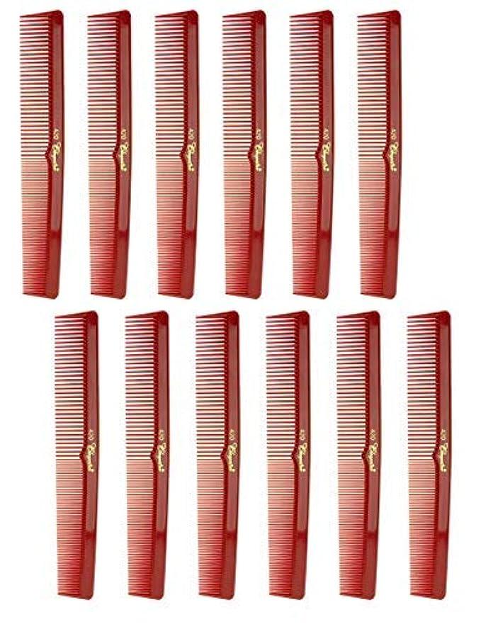 共和国解放打ち負かす7 Inch Hair Cutting Comb. Barber's & Hairstylist Combs. Red. 1 DZ. [並行輸入品]