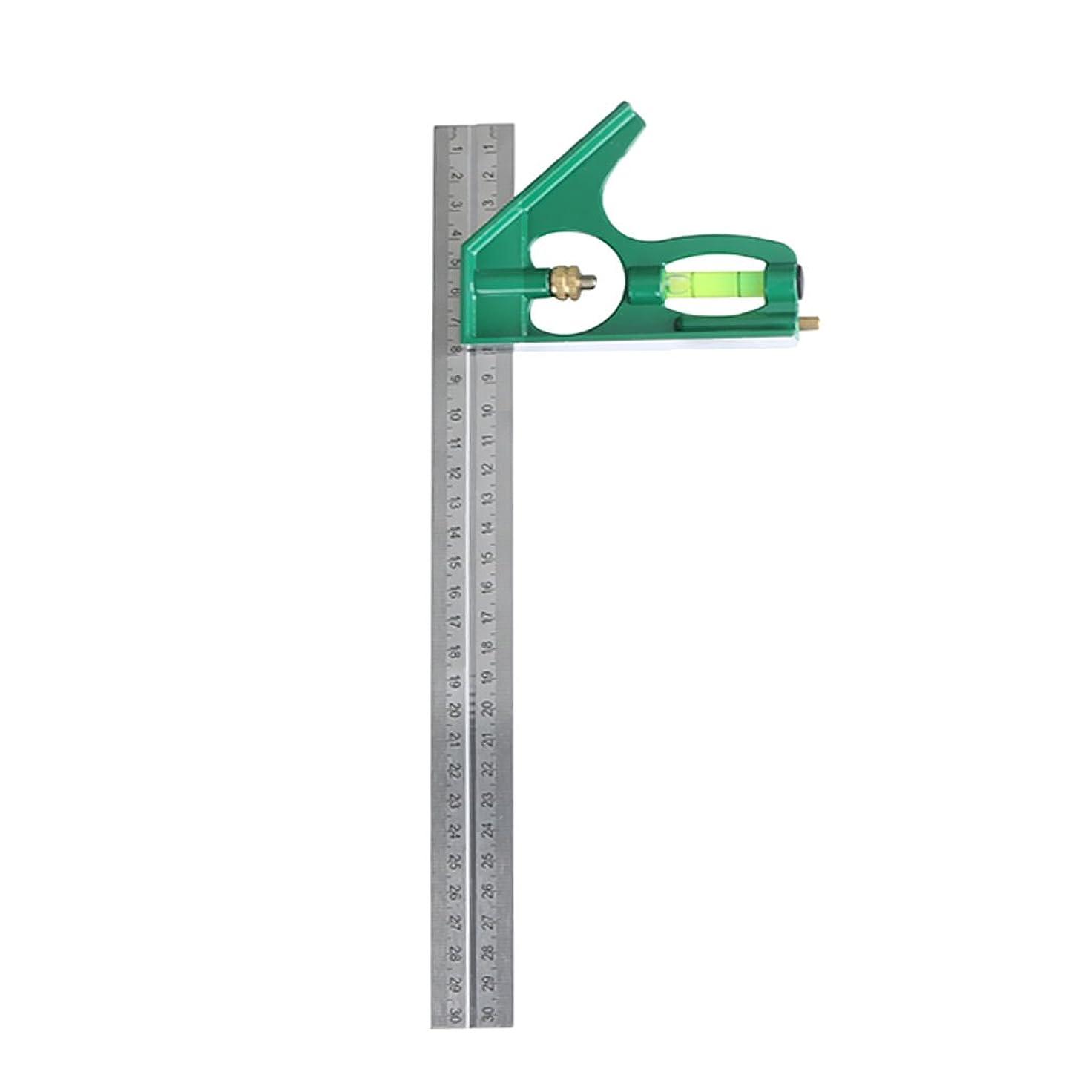 反響するラウズインタビュー角度定規 角度ルーラー 内外角度 測定ツール 木工 産業 12インチ 0-180度 多機能 読みやすい 全2色 - 緑