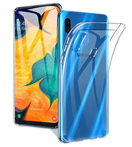 Capa para Samsung Galaxy A30/A20 2019, Cell Case, Samsung Galaxy A30/A20 2019, Capa Protetora Flexível, Transparente