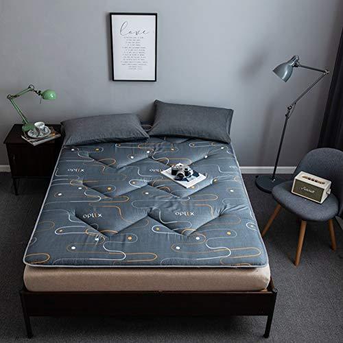 ZAIPP Pillow-top Atmungsaktive Matratze Topper,gesteppter Ausgestattet Klappbare Matratze Japaner Futon Sleeping Mat Für Wohnheim,Home-a 180x200cm(71x79inch)