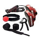 Kuty Kit da Boxe,Guanti da passata, Pallone Reflex da Boxe,Corda per Saltare,Bendaggi Boxe, Pinza Mano, di Palline da Allenamento per velocità Boxe, MMA