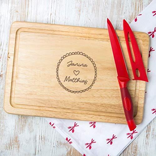 Personalisiertes Schneidebrett mit Paar Gravur, Valentinstag Geschenk für sie, zum Valentinstag, Weihnachtsgeschenk für Paare, Holz oder Schiefer verfügbar