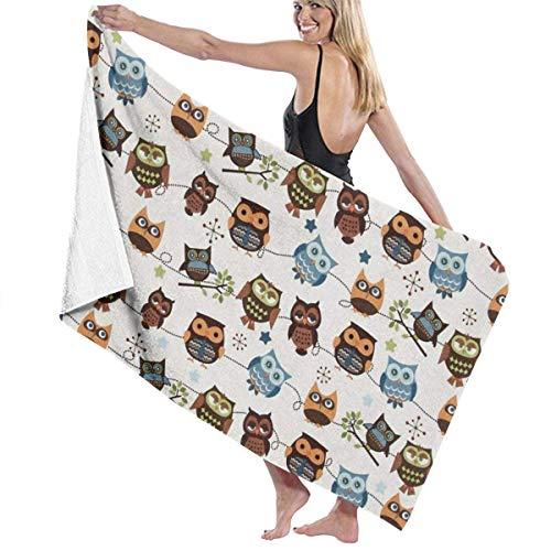 Asciugamani da bagno, simpatici gufi Modelli Asciugamani Asciugamano yoga 100% poliestere Asciugamano corpo altamente assorbente Fogli da bagno ad asciugatura rapida per Home Hotel Spa & pound; & uml;
