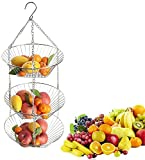Obstkorb zum Aufhängen -Obstkorb hängend - Obst Hängekorb mit längerer Kette...