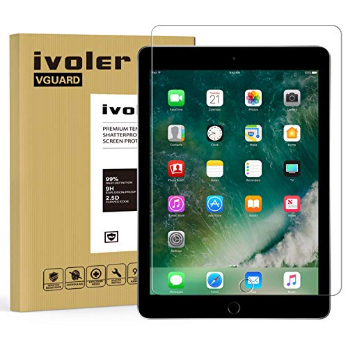 Pellicola Vetro Temperato iPad Pro 10.5, iVoler® ** [Protezione Antigraffi] **Anti-riflesso Ultra-Clear** Ultra resistente in Pellicola iPad Pro 10.5, Pellicola Protettiva Protezione Protettore Glass Screen Protector per iPad Pro 10.5.Vetro con Durezza 9H, Spessore di 0,3 mm,Bordi Arrotondati da 2,5D - Garanzia a Vita