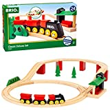 BRIO World 33424 - Classic Deluxe Railway Set - 25 Piece Wood Train Set with Accessories and Wooden Tracks for Kids Ages 2 and Up