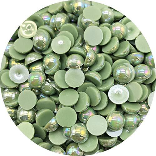 Cuentas de perlas semicirculares de 4/6/8/10 mm con cuentas de libro de recuerdos de espalda plana para hacer joyas DIY Perlas de perlas, 03,6 mm 100 piezas