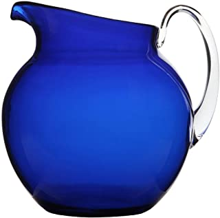 Lily's Home Shatterproof Plastic Pitcher, the Large Capacity Makes it Excellent for Parties, Both Indoor and Outdoor, Blue (110 Ounces)