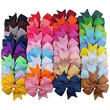 """20Pcs//Lot 3/"""" Solid Ribbon Hair Bows Pinwheel Hair Clip Hairpins Hair Accessories"""