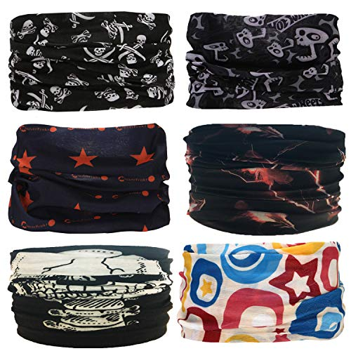 Sea Team 6 Stück/Packung gedruckt Bandanas Multifunktionstuch, 12 Arten Wahl Kopftuch, Stirnband, Motorrad Bandana, Kopftuch ect.