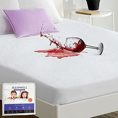 Waterproof Mattress Protector Full Size Mattress Cover Washable Soft Cotton Terry Matressprotector Full Breathable...