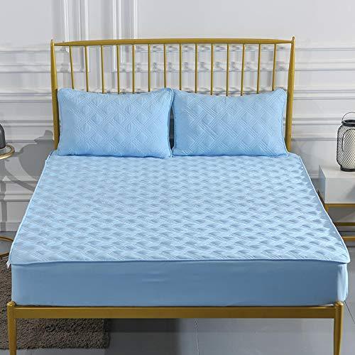 haiba Comfy Nights Sábana bajera ajustable extra profunda 100% algodón, tamaño pequeño para cama doble de 100 x 200 + 25 cm