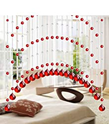 Red Glass Crystal Beads Curtain 1M 15pcs