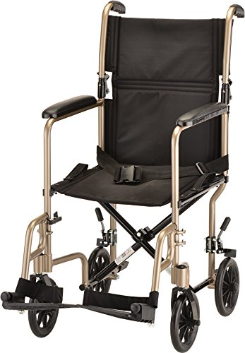 NOVA Medical Products Steel Transport Chair, Champaign, 19 Inch, 23 Pound