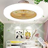 RRBEST LED Ventilatori A Soffitto Silenzioso Lampada da Soffitto A Ventola da 72W con Illuminazione...
