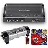 Rockford Fosgate R300X4 300W 4-Channel Class AB Prime Series Full Range Amplifier with 2.5 Farad Capacitor & 4 Channel Amp Kit